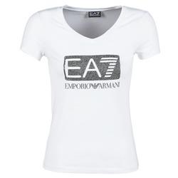 Textil Ženy Trička s krátkým rukávem Emporio Armani EA7 FOUNAROLA Bílá