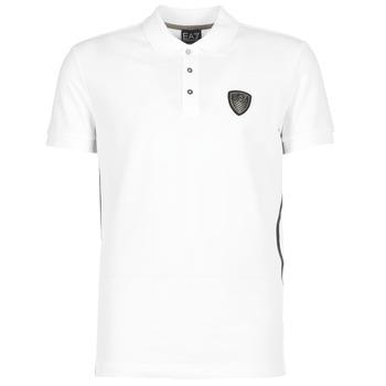 Textil Muži Polo s krátkými rukávy Emporio Armani EA7 ONTRAFOL Bílá