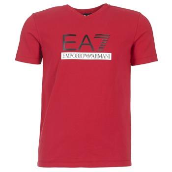 Textil Muži Trička s krátkým rukávem Emporio Armani EA7 MOFRAGO Červená