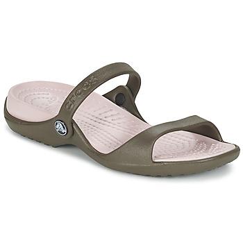 Boty Ženy Sandály Crocs Cleo Čokoládová / Bavlna