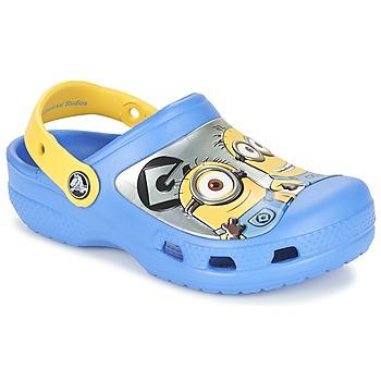 Boty Děti Pantofle Crocs CC Minions Clog Modrá / Žlutá