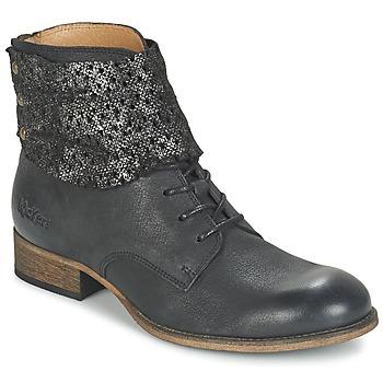 Boty Ženy Kotníkové boty Kickers PUNKYZIP Černá / Třpytivá