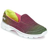 Boty Ženy Nízké tenisky Skechers GO WALK 3 AURA Růžová / Cintrónová