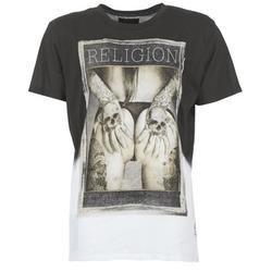 Textil Muži Trička s krátkým rukávem Religion GRABBING Bílá / Černá