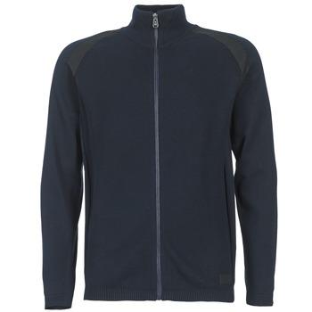 Textil Muži Svetry / Svetry se zapínáním Jack & Jones STREET CORE Tmavě modrá