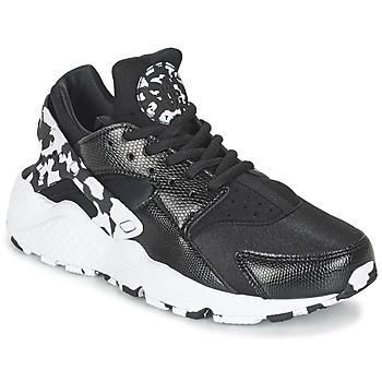 Boty Ženy Nízké tenisky Nike AIR HUARACHE RUN SE W Černá / Bílá
