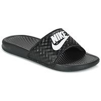 Boty Ženy pantofle Nike BENASSI JUST DO IT W Černá / Bílá