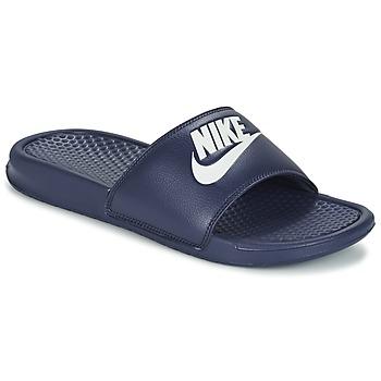 Boty Muži pantofle Nike BENASSI JDI Modrá / Bílá