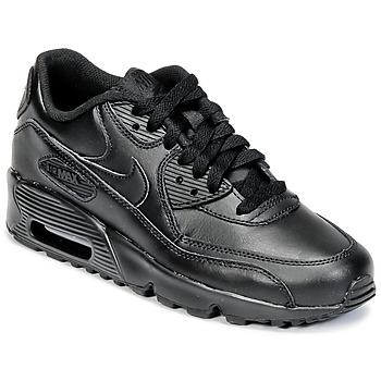 Boty Chlapecké Nízké tenisky Nike AIR MAX 90 LEATHER GRADE SCHOOL Černá