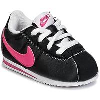 Boty Dívčí Nízké tenisky Nike CORTEZ NYLON TODDLER Černá / Růžová