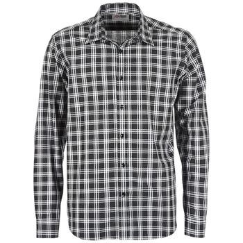 Textil Muži Košile s dlouhymi rukávy Yurban FLENOTE Černá / Bílá