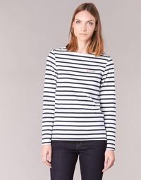 Textil Ženy Trička s dlouhými rukávy Betty London IFLIGEME Bílá / Modrá