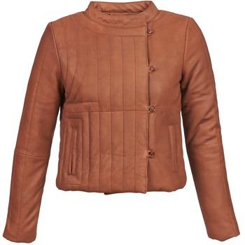 Textil Ženy Kožené bundy / imitace kůže Antik Batik YOANN Zlatohnědá