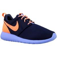 Boty Chlapecké Nízké tenisky Nike Roshe One GS Oranžové, Tmavomodré