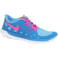 Boty Chlapecké Nízké tenisky Nike Free 50 GS Modré, Růžové