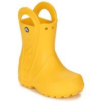 Boty Děti Holínky Crocs HANDLE IT RAIN BOOT KIDS Žlutá