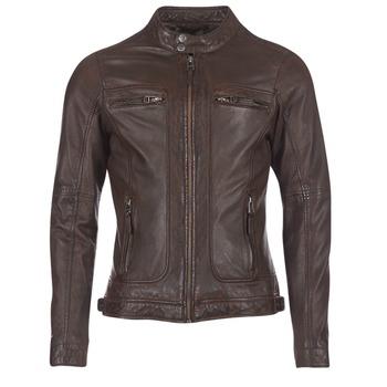 Textil Muži Kožené bundy / imitace kůže Oakwood 60901 Hnědá
