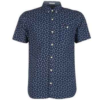 Textil Muži Košile s krátkými rukávy Tommy Jeans TIDURES Tmavě modrá