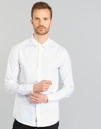 Textil Muži Košile s dlouhymi rukávy Calvin Klein Jeans WILBERT Bílá