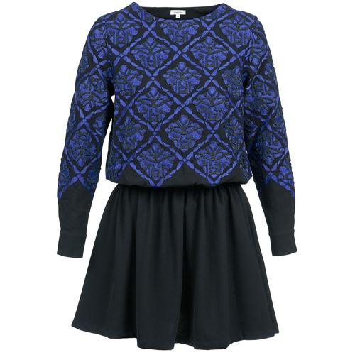 Textil Ženy Krátké šaty Manoush GIRANDOLINE Černá / Modrá
