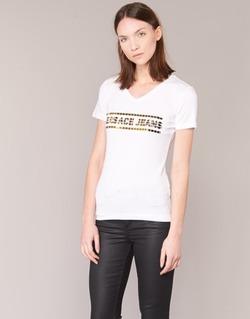 Textil Ženy Trička s krátkým rukávem Versace Jeans B2HPA7GC Bílá