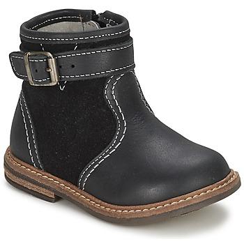 Boty Chlapecké Kotníkové boty Citrouille et Compagnie LOOPI Černá