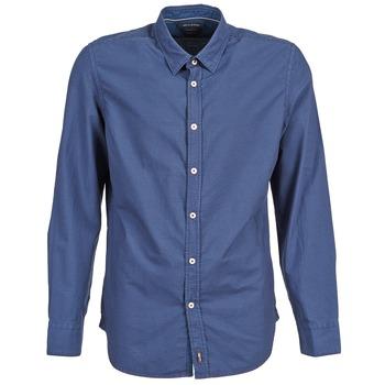 Textil Muži Košile s dlouhymi rukávy Marc O'Polo CELSUS Modrá / Tmavě modrá / Červená