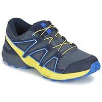 Boty Děti Multifunkční sportovní obuv Salomon SPEEDCROSS J Modrá / Žlutá