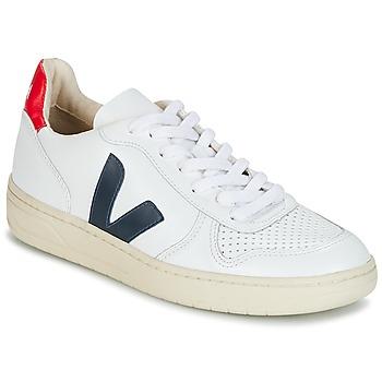 Boty Nízké tenisky Veja V-10 Bílá / Modrá / Červená