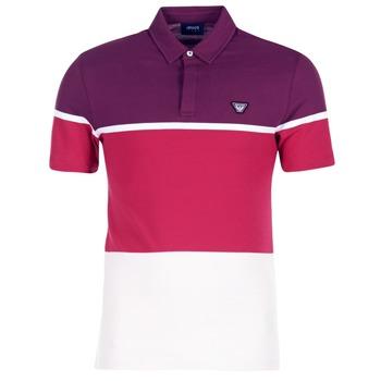 Textil Muži Polo s krátkými rukávy Armani jeans MARAFOTA Fialová / Červená / Bílá