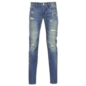 Textil Muži Rifle slim Armani jeans NAKAJOL Modrá