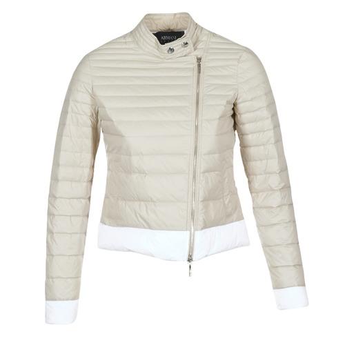 Textil Ženy Prošívané bundy Armani jeans BEAUJADO Béžová / Bílá