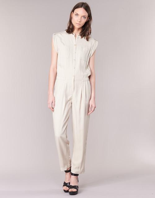 Textil Ženy Overaly / Kalhoty s laclem Armani jeans FOFFIA Béžová