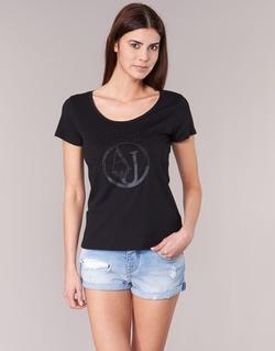 Textil Ženy Trička s krátkým rukávem Armani jeans LASSERO Černá