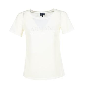 Textil Ženy Trička s krátkým rukávem Armani jeans KAJOLA Bílá