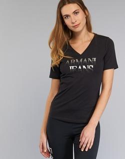 Textil Ženy Trička s krátkým rukávem Armani jeans JAGONA Černá