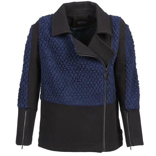 Textil Ženy Bundy Eleven Paris FLEITZ Černá / Modrá