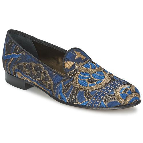 Boty Ženy Mokasíny Etro 3046 Černá / Modrá