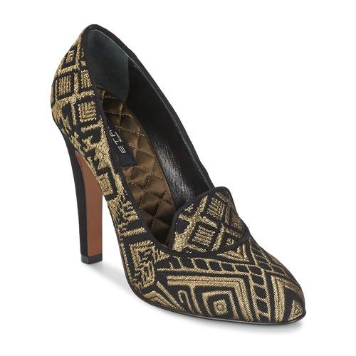 Boty Ženy Lodičky Etro 3055 Černá / Zlatá