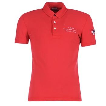 Textil Muži Polo s krátkými rukávy Napapijri ELBAS Červená