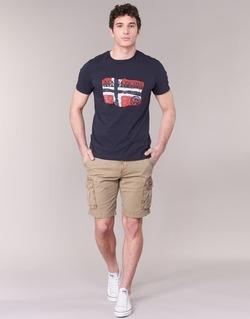 Textil Muži Kraťasy / Bermudy Napapijri NON Béžová