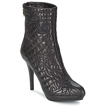 Boty Ženy Polokozačky Versace MARGHERITA Černá