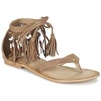 Boty Ženy Sandály Vero Moda VMKAYA LEATHER SANDAL Zlatohnědá