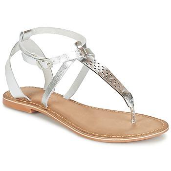 Boty Ženy Sandály Vero Moda VMANNELI LEATHER SANDAL Stříbrná