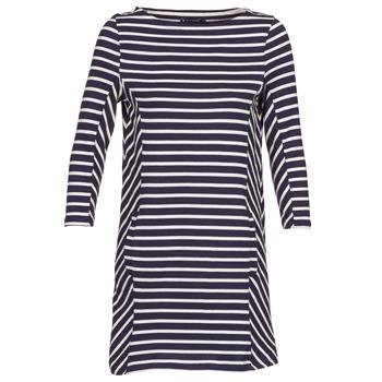 Textil Ženy Krátké šaty Petit Bateau LESS Tmavě modrá / Béžová