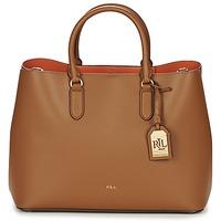 Taška Ženy Velké kabelky / Nákupní tašky Ralph Lauren DRYDEN MARCY TOTE Hnědá / Oranžová