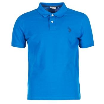 Textil Muži Polo s krátkými rukávy U.S Polo Assn. INSTITUTIONAL Modrá