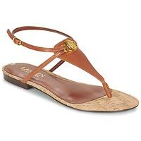 Boty Ženy Sandály Ralph Lauren ANITA SANDALS CASUAL Hnědá