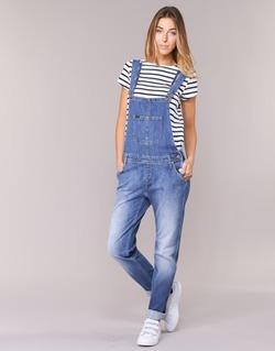 Textil Ženy Overaly / Kalhoty s laclem Lee RELAXED BIB Modrá / Světlá