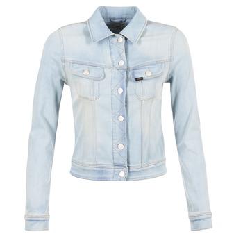 Textil Ženy Riflové bundy Lee SLIM RIDER Modrá / Světlá